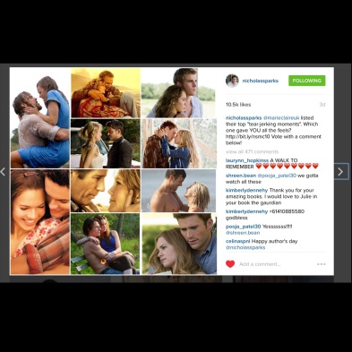 Nicholas Sparks featured my Marie Claire article on his social media sites. http://marieclai.re/5k7aQP